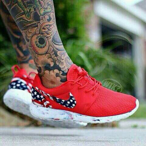 super popular 4034b 190c4 Red, white & blue roshes   Sneakers   Nike shoes cheap ...