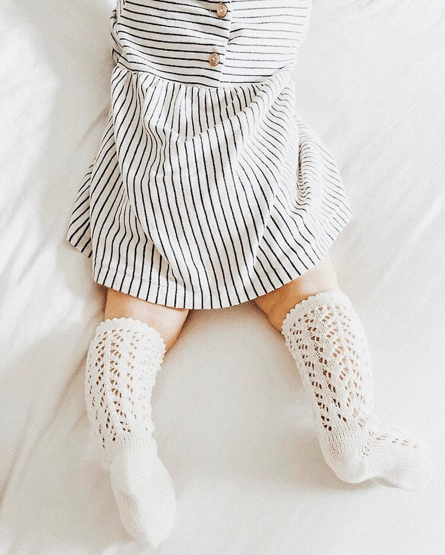 767cad4c132 Crochet knee highs for babies