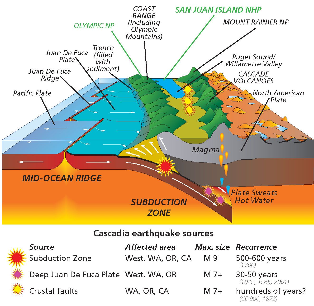 Why Have Volcanoes In The Cascades Been So Quiet Lately Active - West coast fault lines