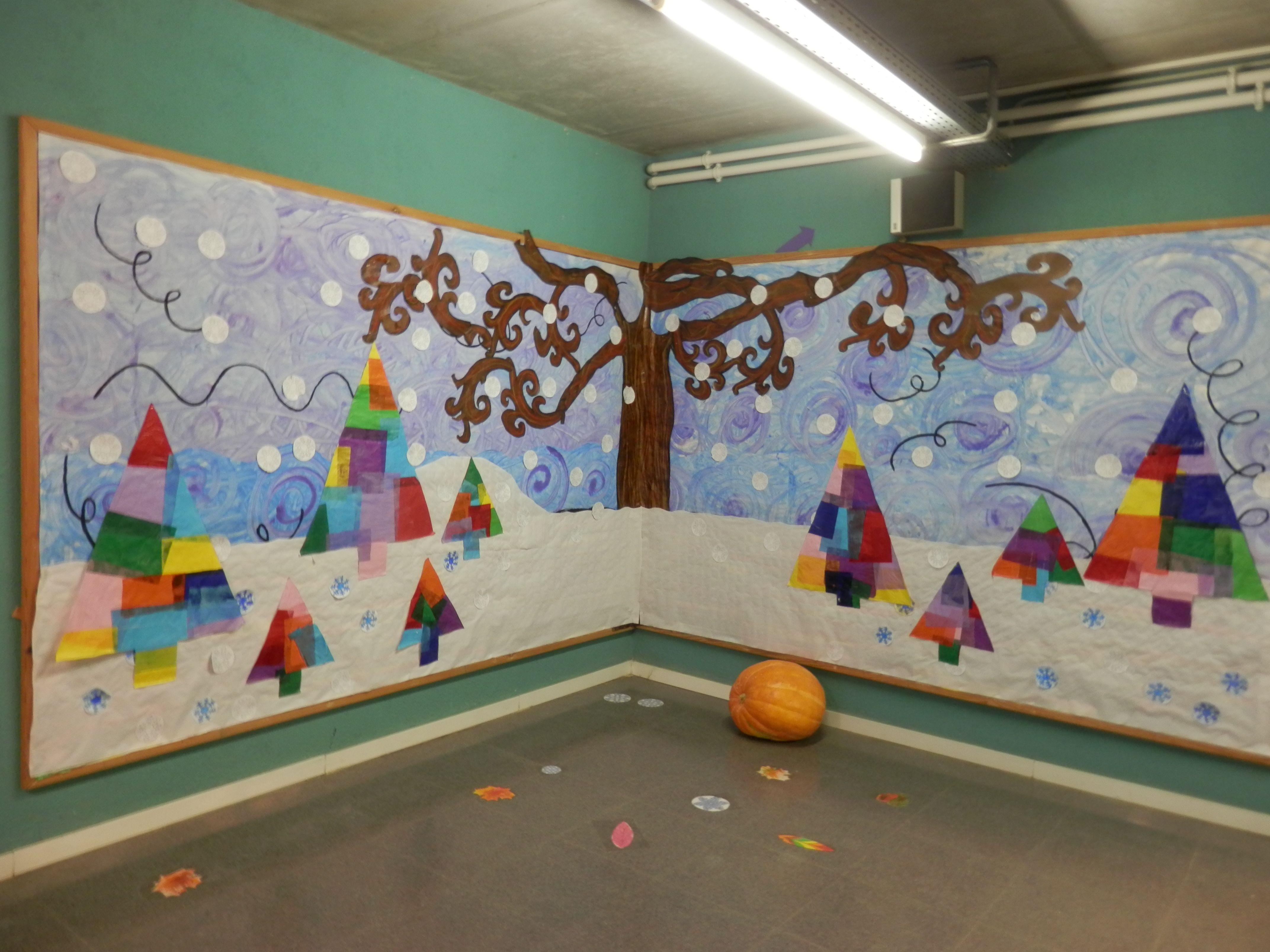 Mural hivern mural hivern pinterest invierno - Murales decorativos de navidad ...