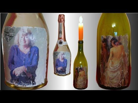 fototransfer auf glas geschenk flasche mit gru karte anleitung f r acryllack youtube potch. Black Bedroom Furniture Sets. Home Design Ideas