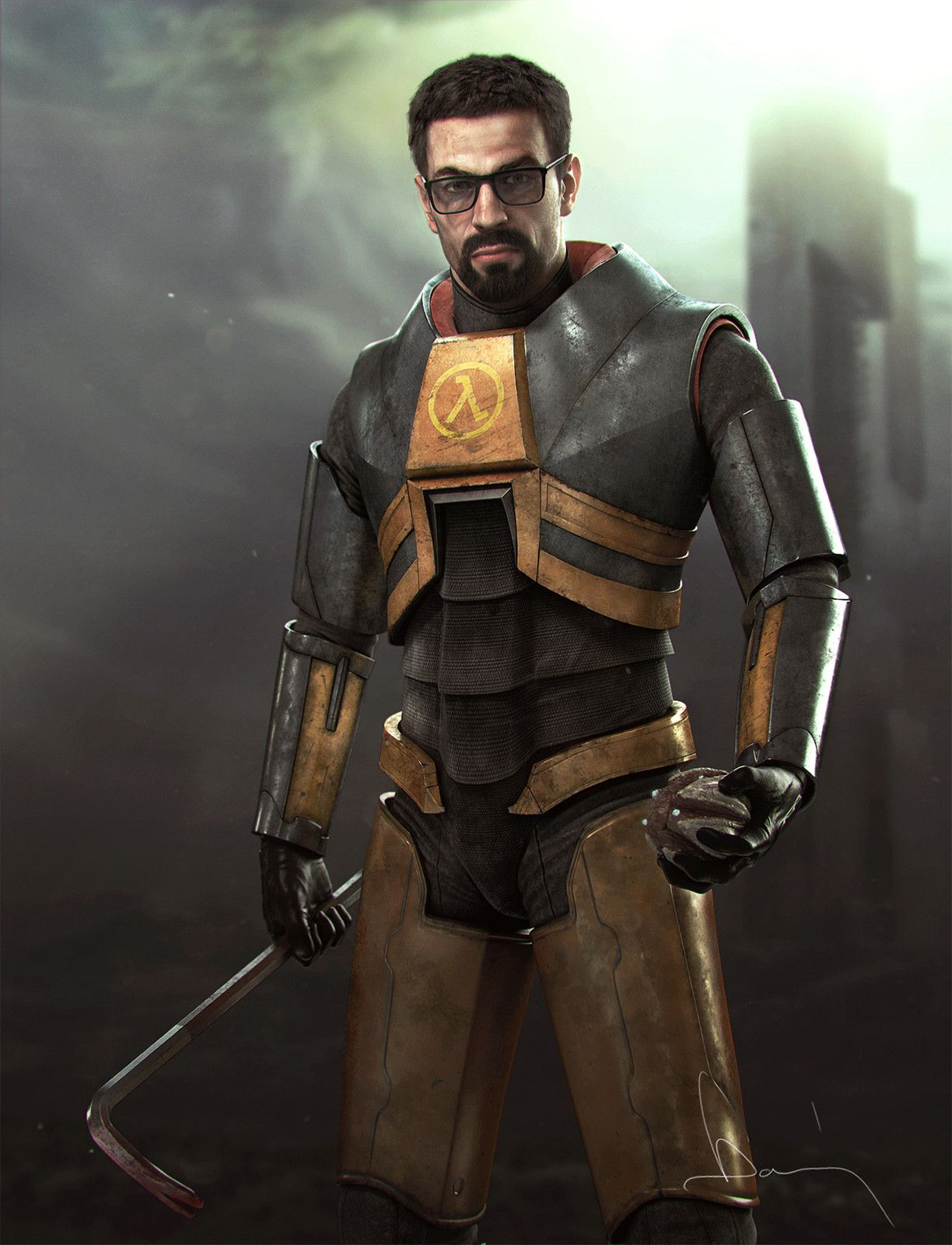 Artstation Gordon Freeman Andras Domany Half Life Game