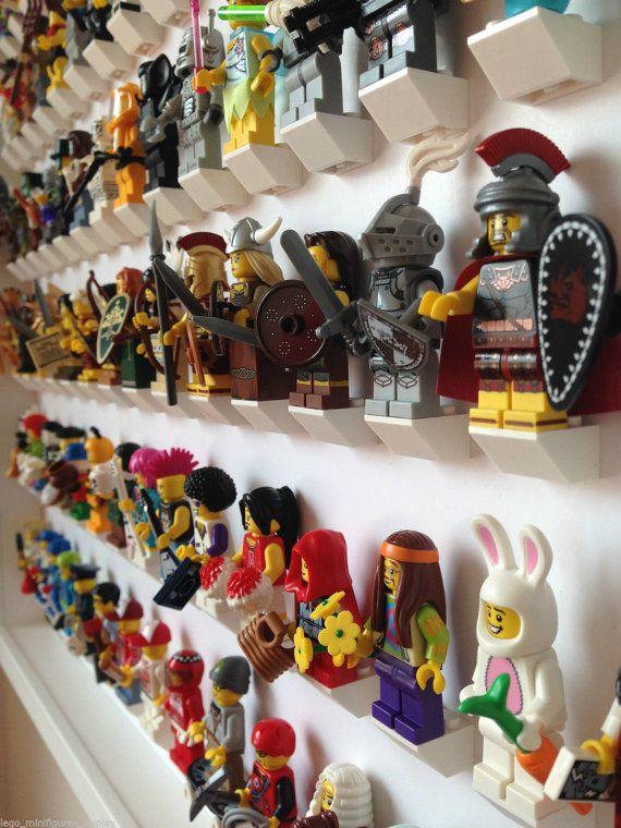 White Display Frame for 105 Lego Minifigures