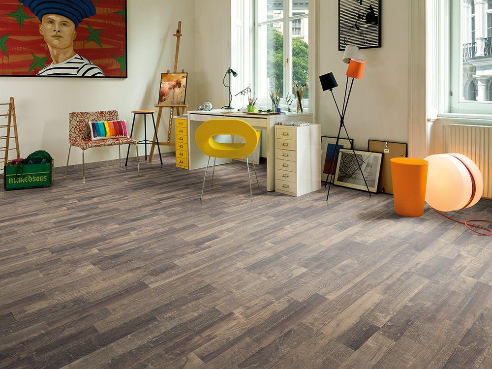 Black Nidaros Oak Wood laminate flooring, Laminate