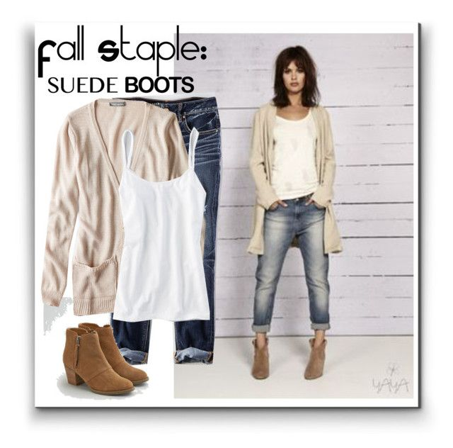 """Style Staple:  Suede Boots"" by karen-bachman ❤ liked on Polyvore featuring American Eagle Outfitters and suedeboots"