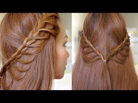 Easy Girls Hairstyles Braided Hairstyle For Girls With Long Hair Cascading Braids Hairstyle Tutorial Hair Styles Braided Hairstyles Hair Tutorial