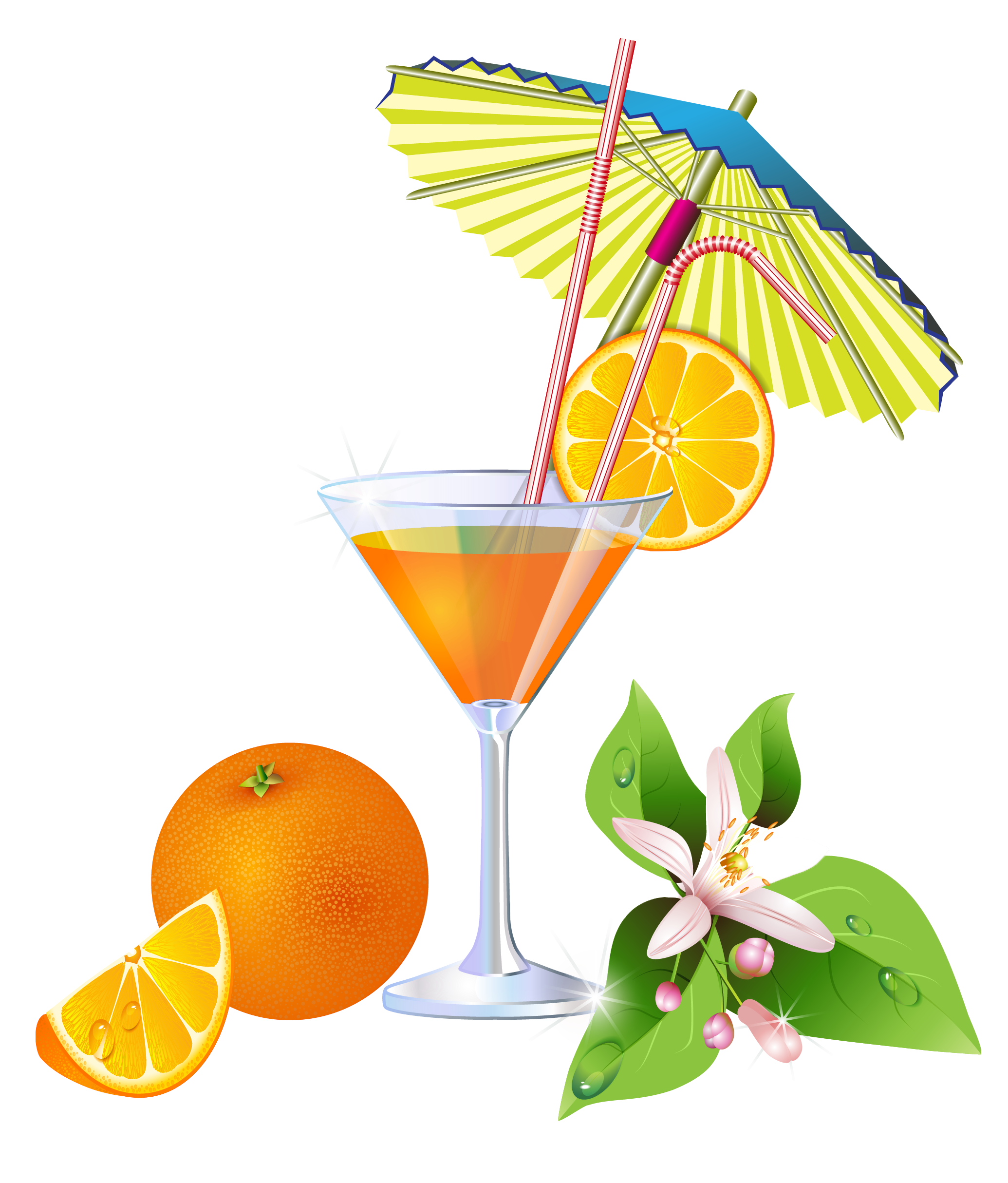 Summer Orange Cocktail PNG Clipart | Clip Art Drinks, Ice ...