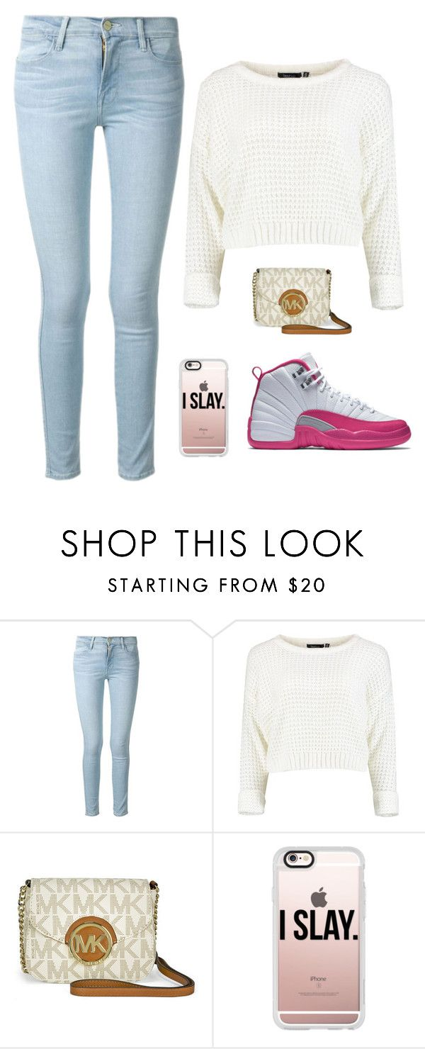 """Untitled #87"" by jaslyn101 ❤ liked on Polyvore featuring Frame Denim, Michael Kors and Casetify"