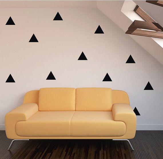 100 Stickers muraux de triangle confettis de décoration Chambre