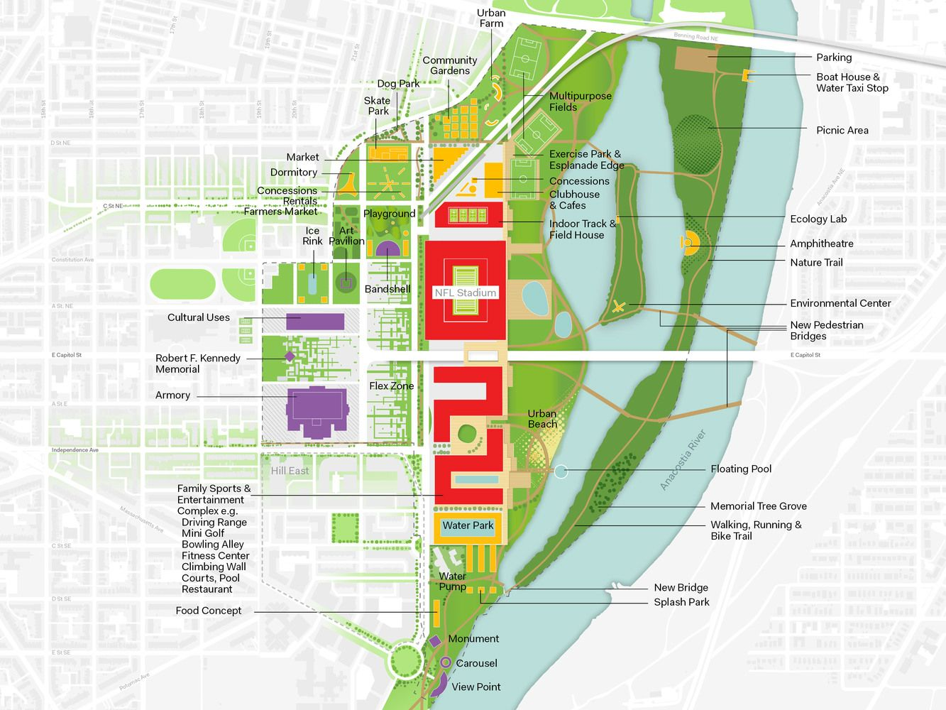Rfk Campus In Washington Dc Oma Urban Design Graphics Site Plan Design How To Plan