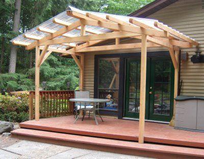 Porch Structure To Bridge The Gap Between House And Carport Pergola Patio Patio Landscaping Backyard Patio