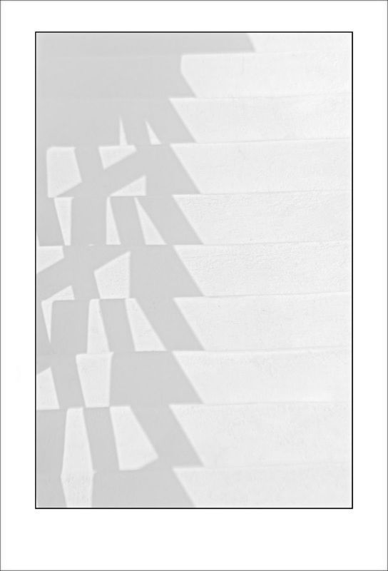 From the Greek Minimalism series: Greek Architectural Detail (White and White) # 3, Santorini, Greece (2008) Photograph by Tony Bowall FRPS  #architectural #Bowall #detail #FRPS #Greece #Greek #minimalism #Photograph #Santorini #Series #Tony #white