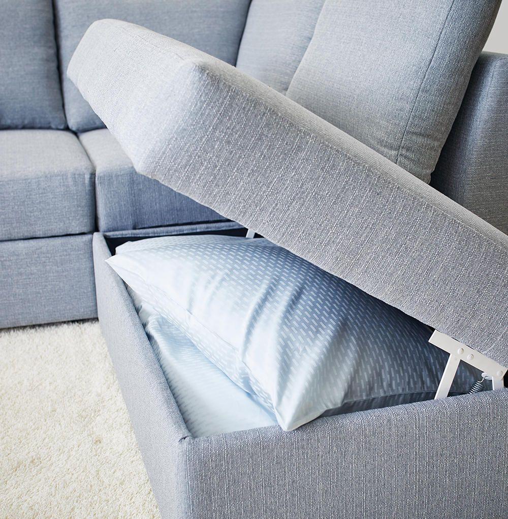magasin dyner Dragør hjørne  og sovesofa med chaiselong er både praktisk og  magasin dyner