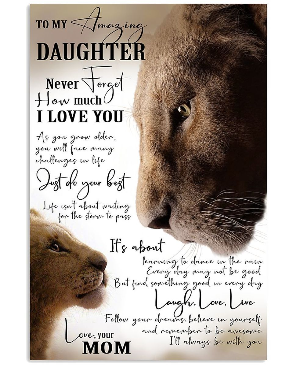 customized to my amazing daughter lion king print on poster my wall id=39426