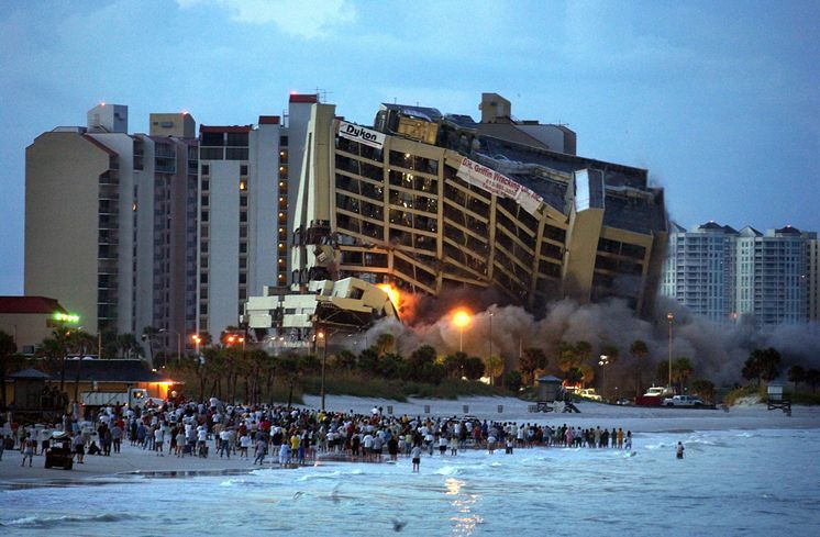 Adams Mark Implosion 2006 Clearwater Beach Hotels