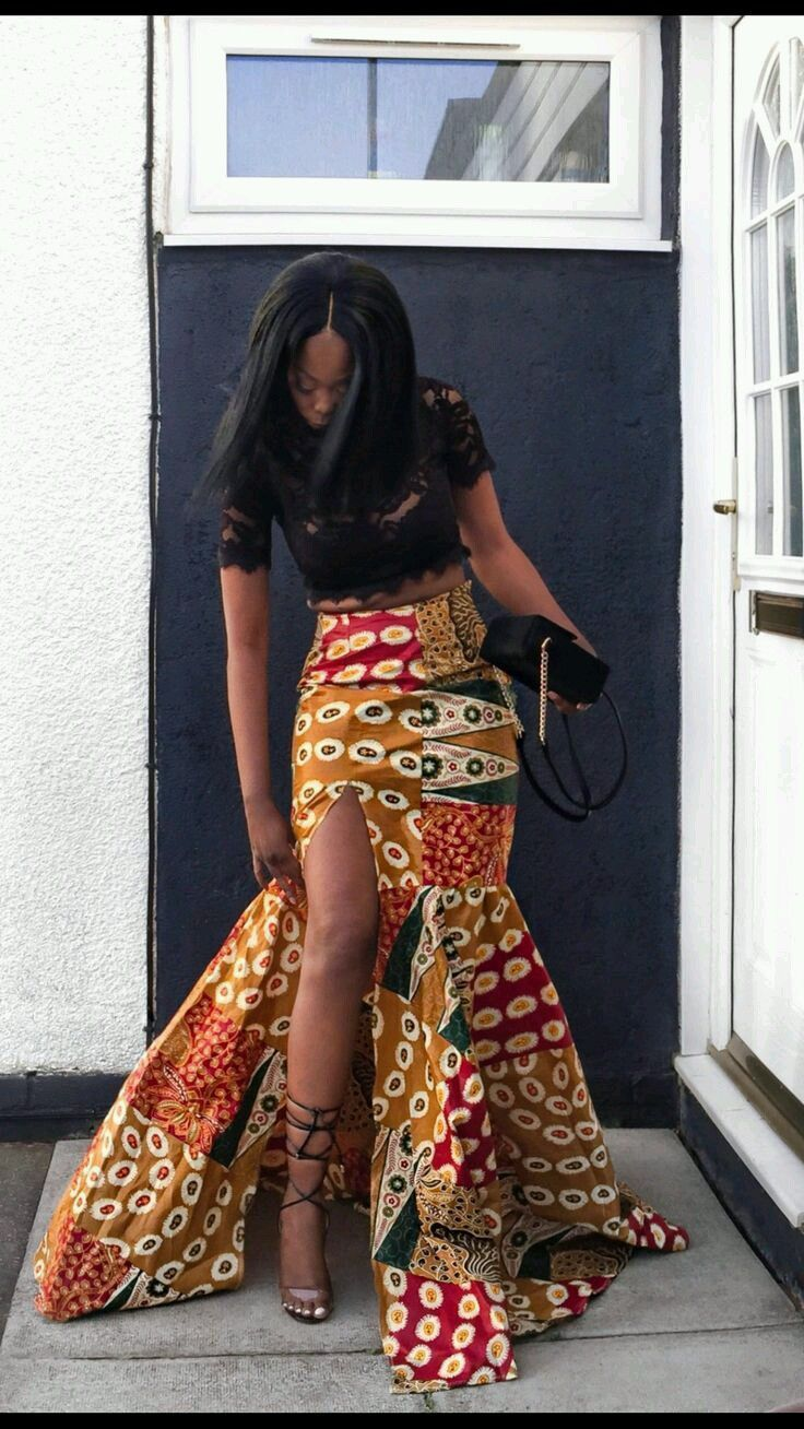 Here are ankara styles for big ladies ankara long gown