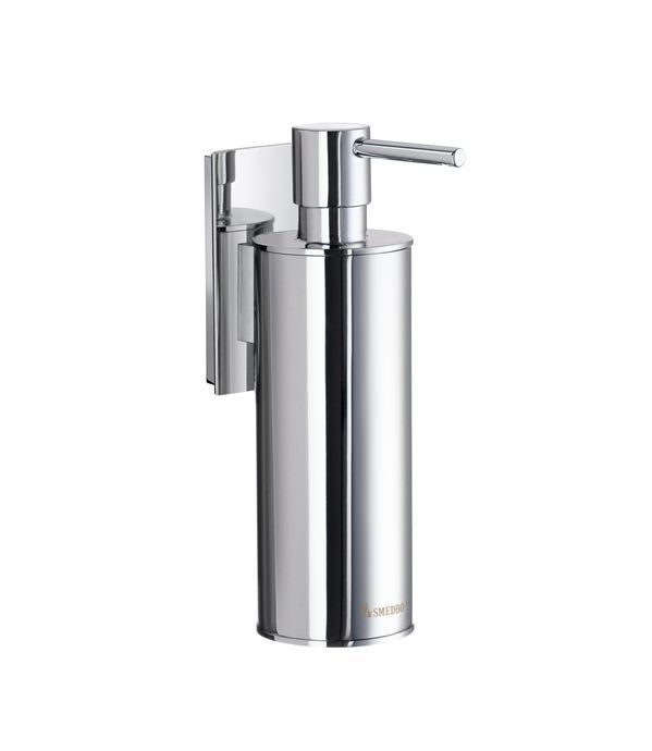 Polished Chrome Wall Mounted Soap Pump With Plastic Insert