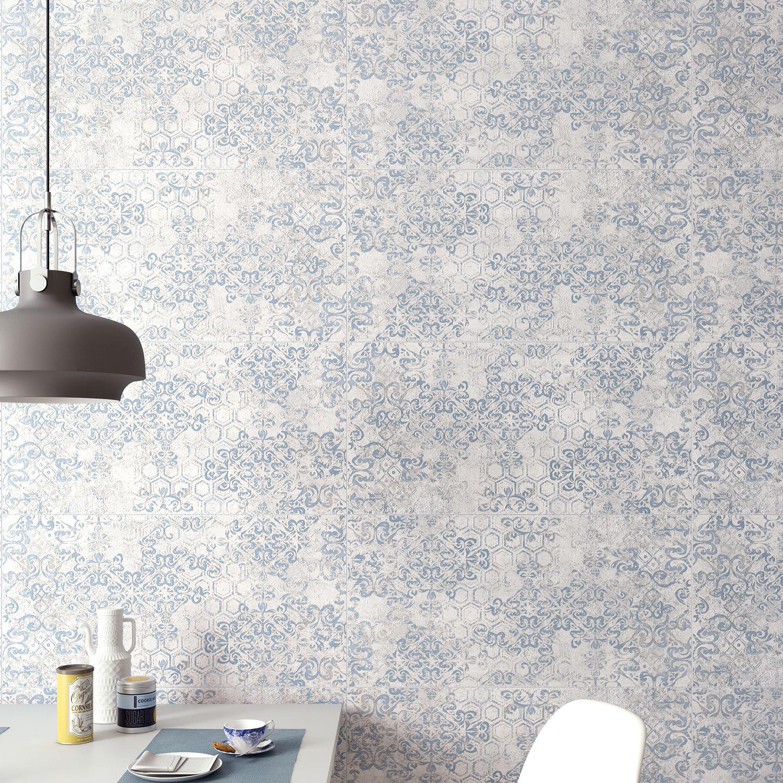 Particolare del colore Blu e decoro Draw della nostra collezione da rivestimento Visual Design.   http://www.supergres.com/your-home/rivestimenti/item/925-visual