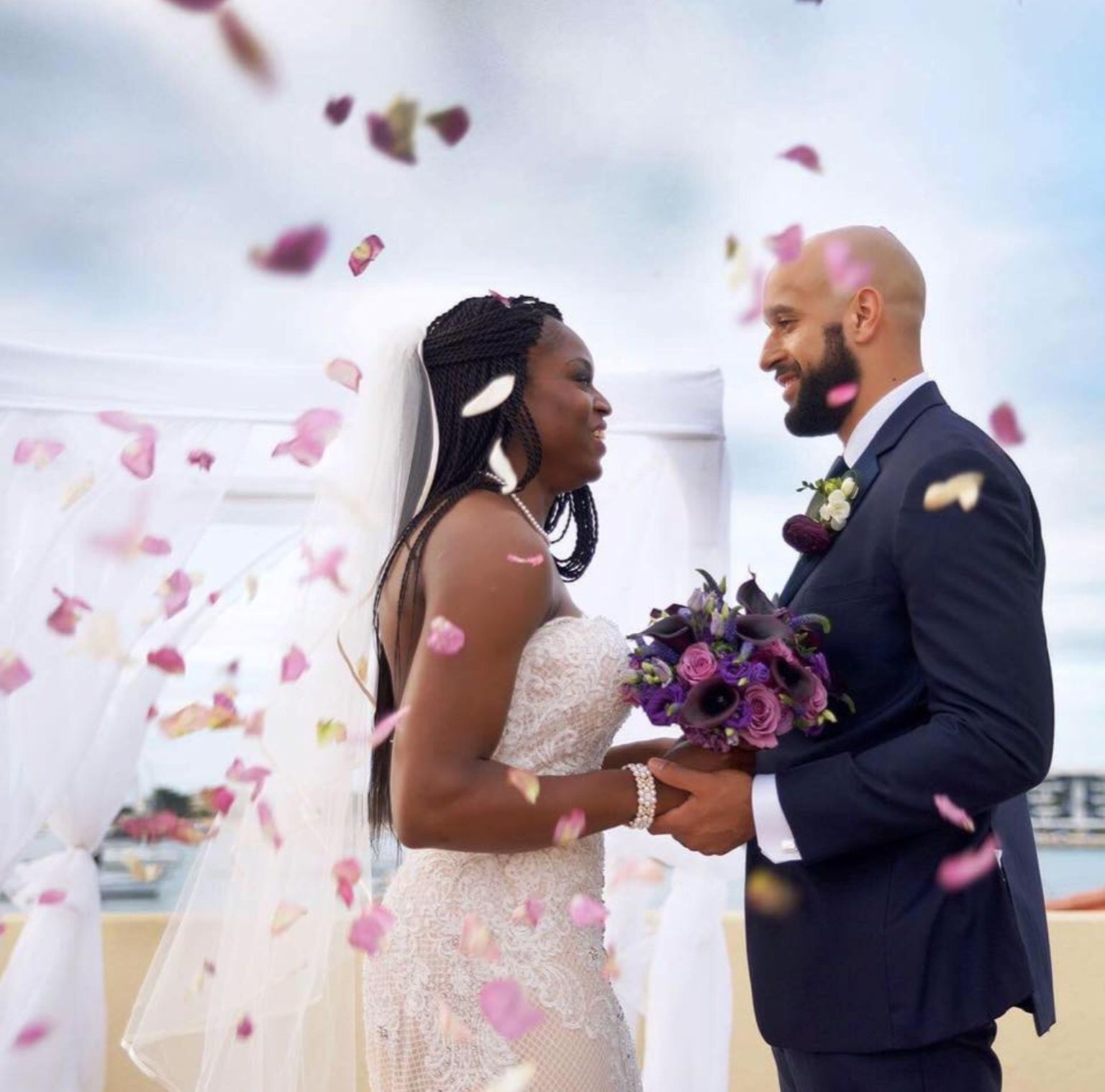 Karima Christmas & Austin Kelly. | WNBA Weddings | Pinterest | Wnba