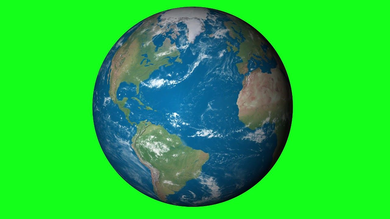 earth rotating animated green screen royalty free footage