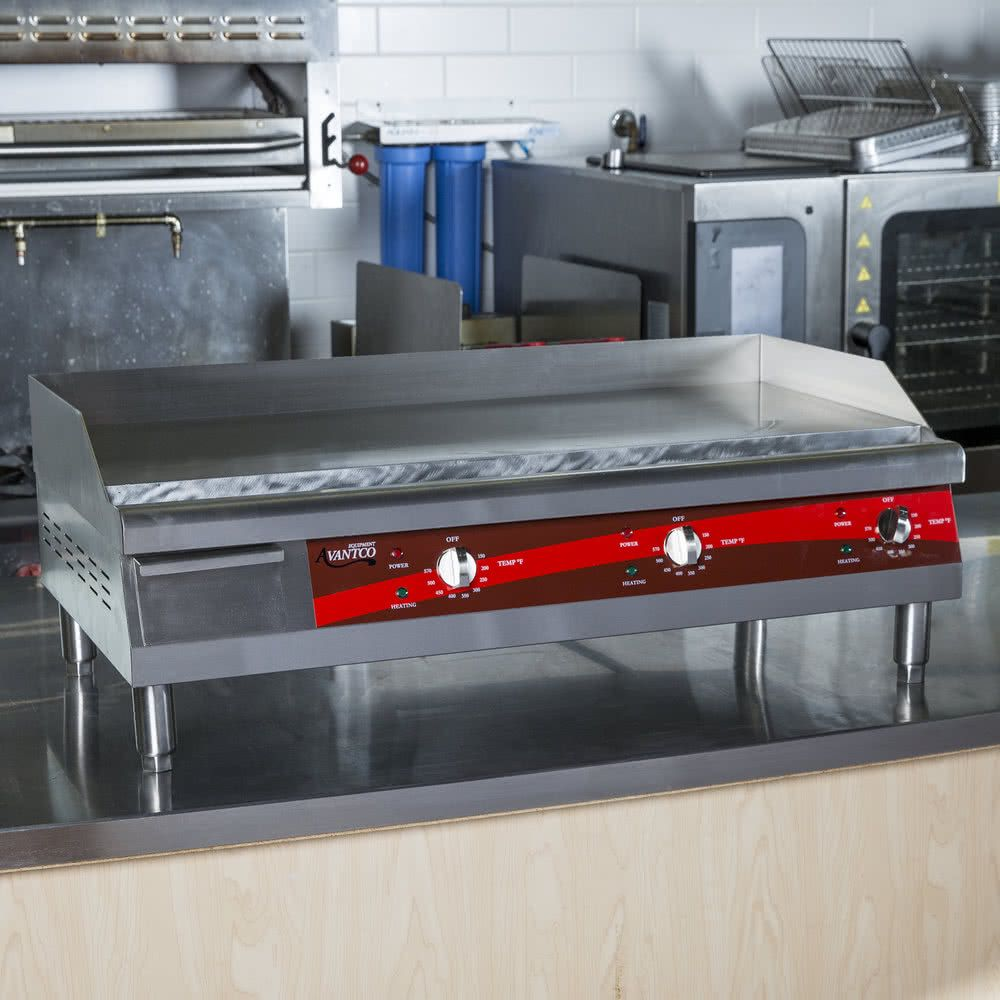 Avantco Eg36n 36 Electric Countertop Griddle 208 240v 7488w