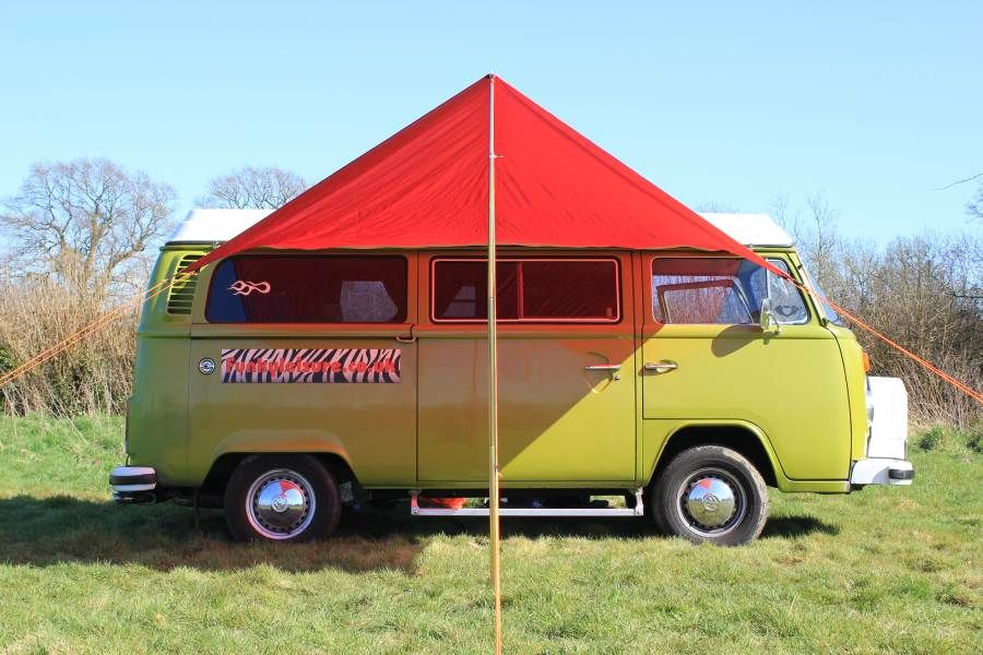Vw Campervan Awning Sun Canopy Chianti Red Camper