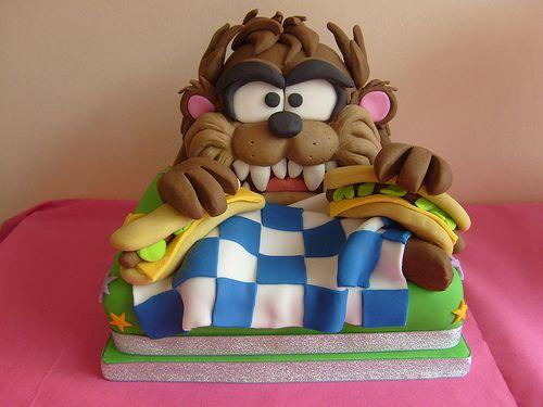 Looney Tunes tasmanian devil cake Unique Kids Birthday Cakes