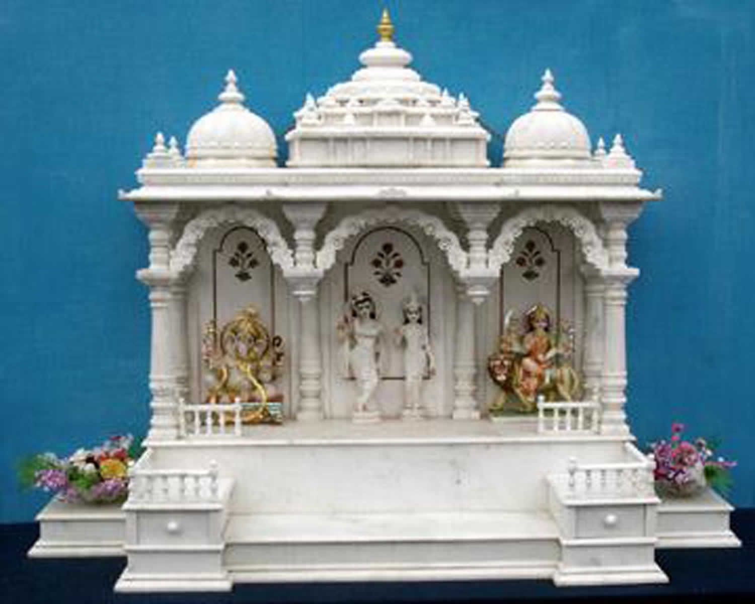 Merveilleux Marble Temple Design For Home Indian Home Mandir   Impending.co | Pinterest  | Temple, Marbles And Puja Room