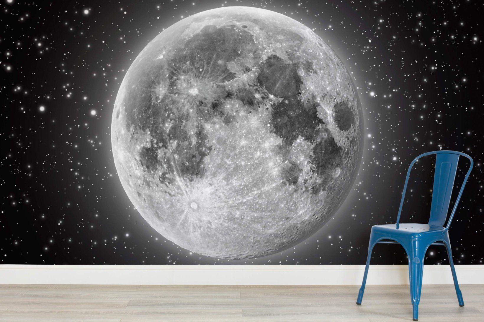 Moon and Stars Wallpaper Mural MuralsWallpaper in 2019