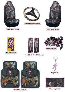 Licensed Pink Browning Buckmark Auto & Truck Accessory Set 11 Pc ...