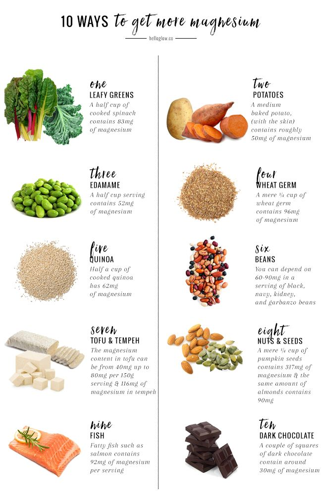 10 Ways to Get More Magnesium (And Why You Should Minerals, Food - potassium rich foods chart