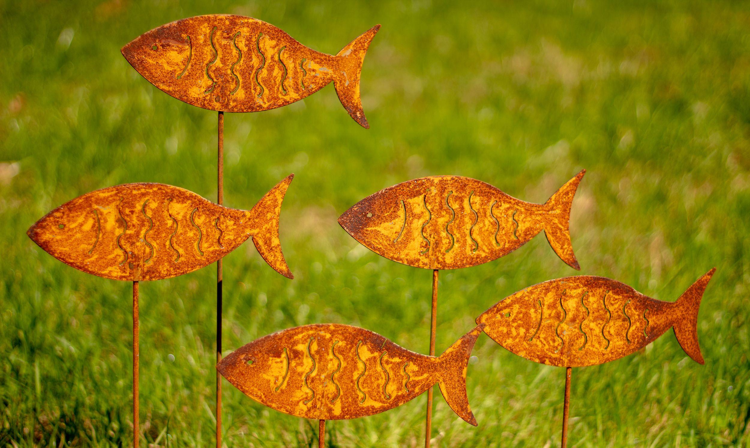 Rost Gartenstecker Fische