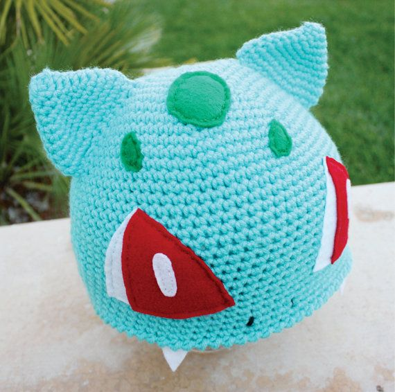 Bulbasaur Pokemon Inspired Hat With Onion Bulb like by littlepopos ...
