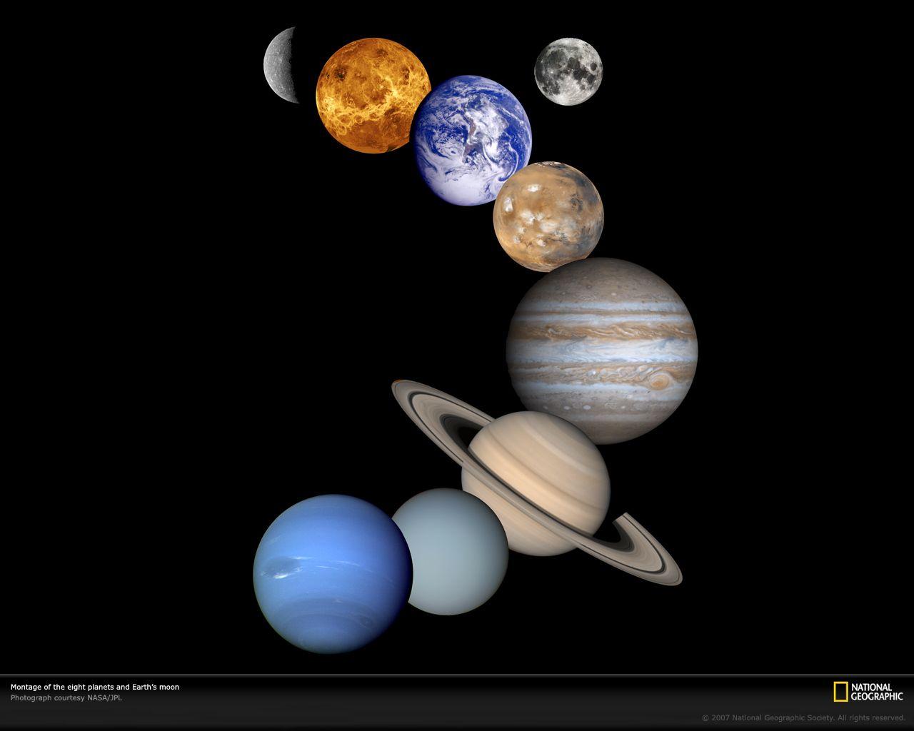 Planetary Lineup Pia Xl Jpg 1280 1024 天文学 太陽系 惑星