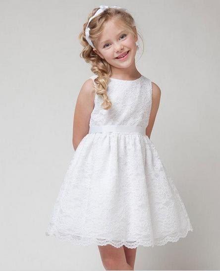 Dentelle blanche robe de filles filles robe de par