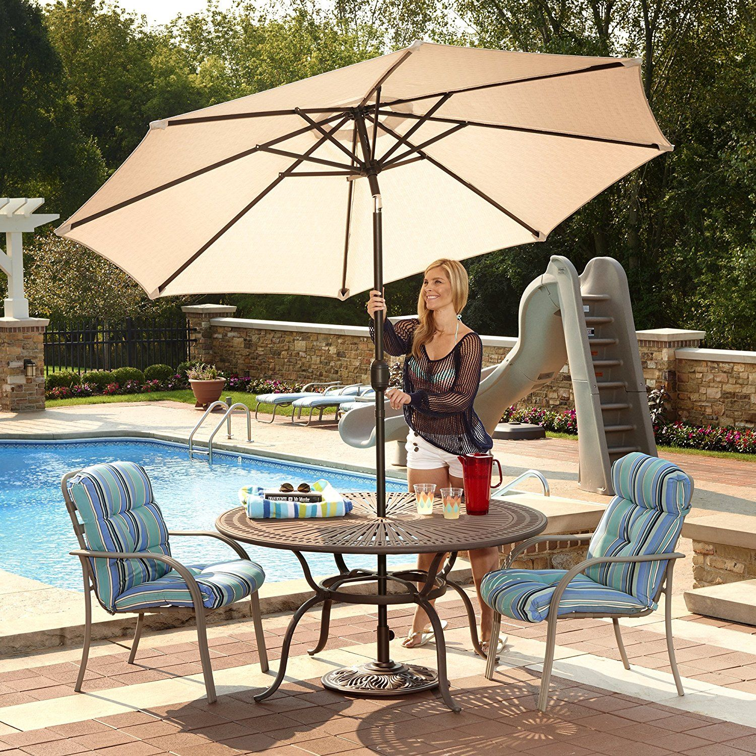 What Is The Best Patio Umbrella Fabric? We Look At Several Common Patio  Umbrella Canopy