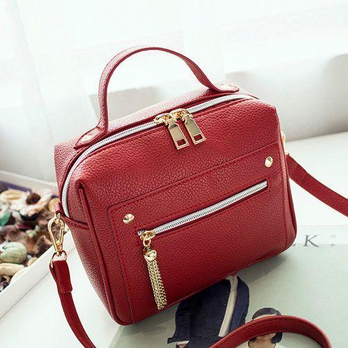 4b1f82c9e1 Fashion Zipper Women Bag High Quality Leather Women Top-handle Bag Small  Size Messenger Bag