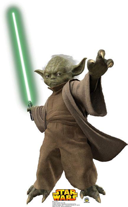 Advanced Graphics Star Wars Yoda with Lightsaber Cardboard Stand-Up & Reviews   Wayfair