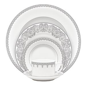 Waterford Lismore Lace Platinum Formal Dinnerware 5 Piece Place Setting    Accessories And Decor   Fine Brand Sales
