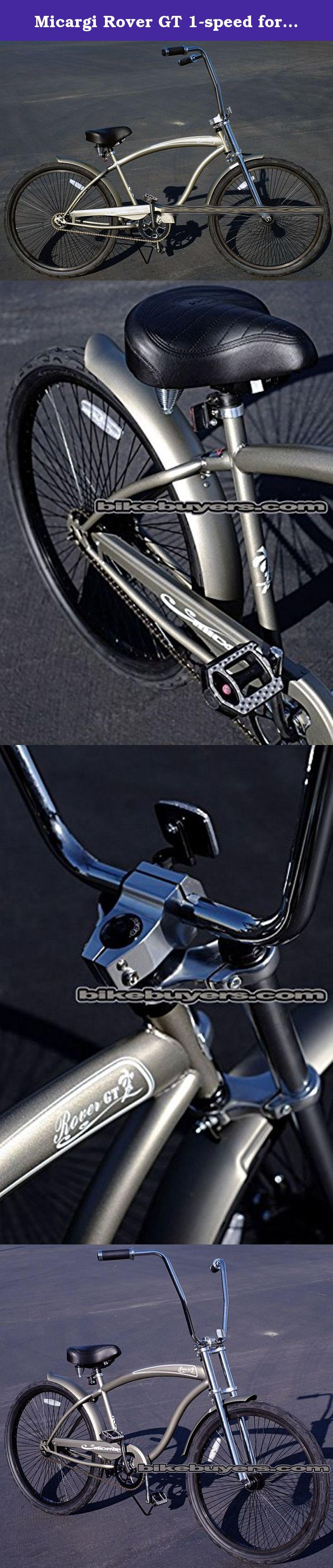 """Micargi 26/"""" Rover GT 68 spokes Men beach cruiser Oversize Bicycle Matte Gray"""