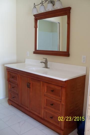 Foremost Naples 60 In Vanity Cabinet Only In Warm Cinnamon For