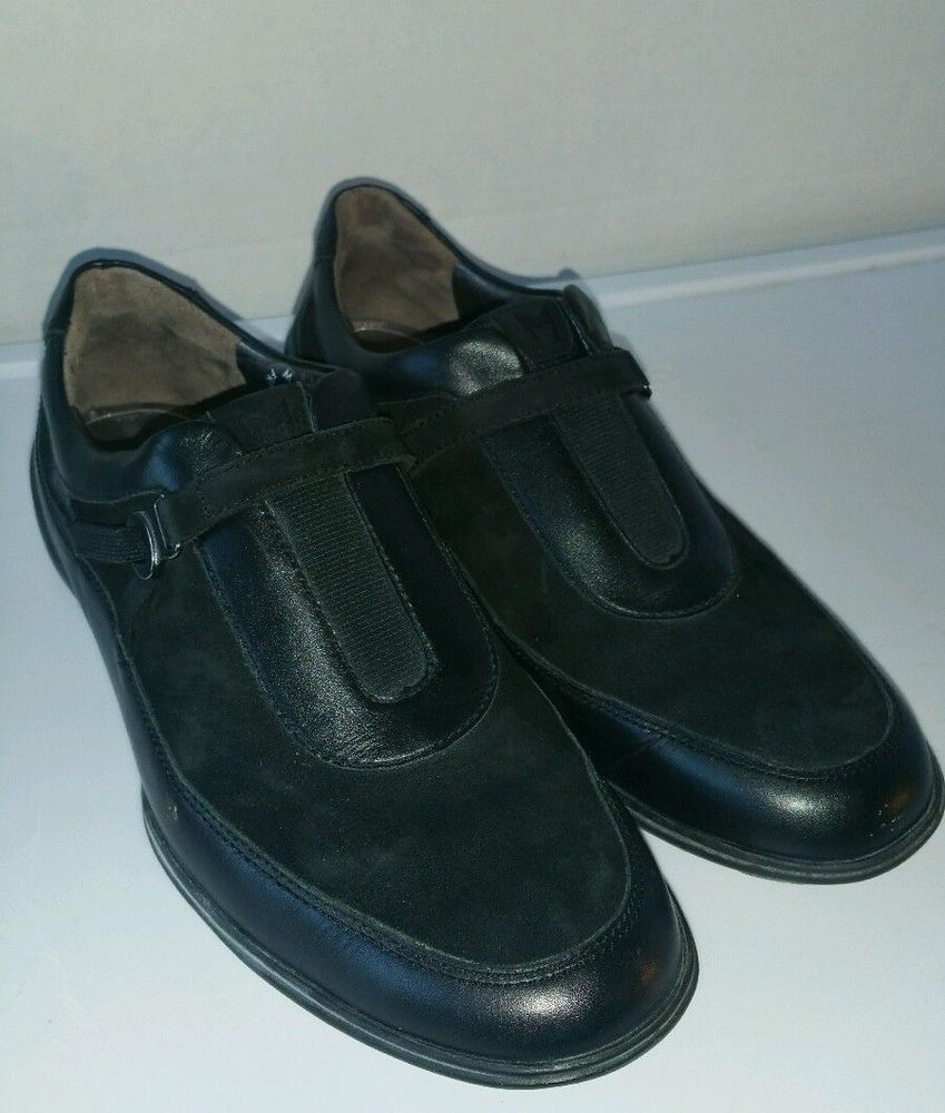 a9b423628ae1 Mephisto Air Relax Black Leather Patent Strap Shoes European Style Women 6   Mephisto  LoafersMoccasins