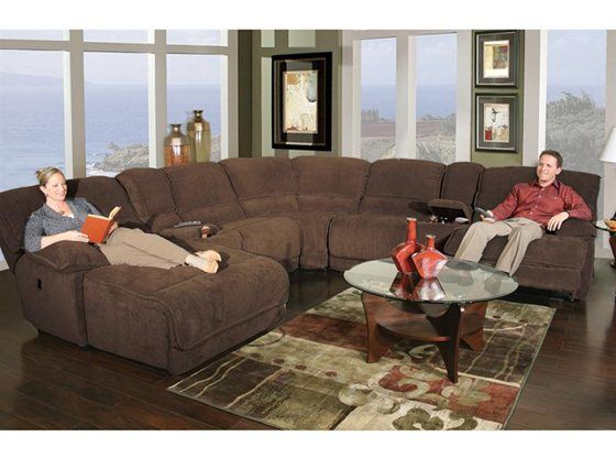 Kane S Furniture Dimples 7 Piece Reclining Sectional