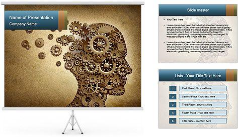 Mechanism Instead Of Brain Powerpoint Template  Sara Rezaei