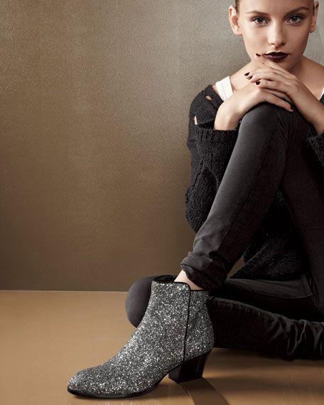 Giuseppe Zanotti Glitter Ankle Boots