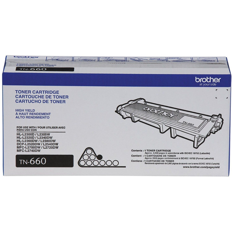 Brother Printer TN660 High Yield Toner Reseller 2Pack