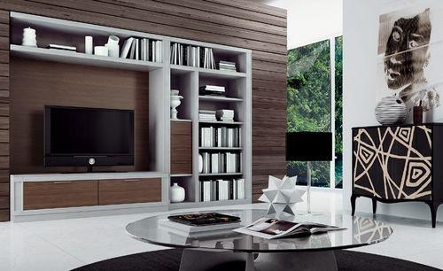 Moderne Wohnwand Aus Holz Composition 12 Le Fablier | Ideen Rund,