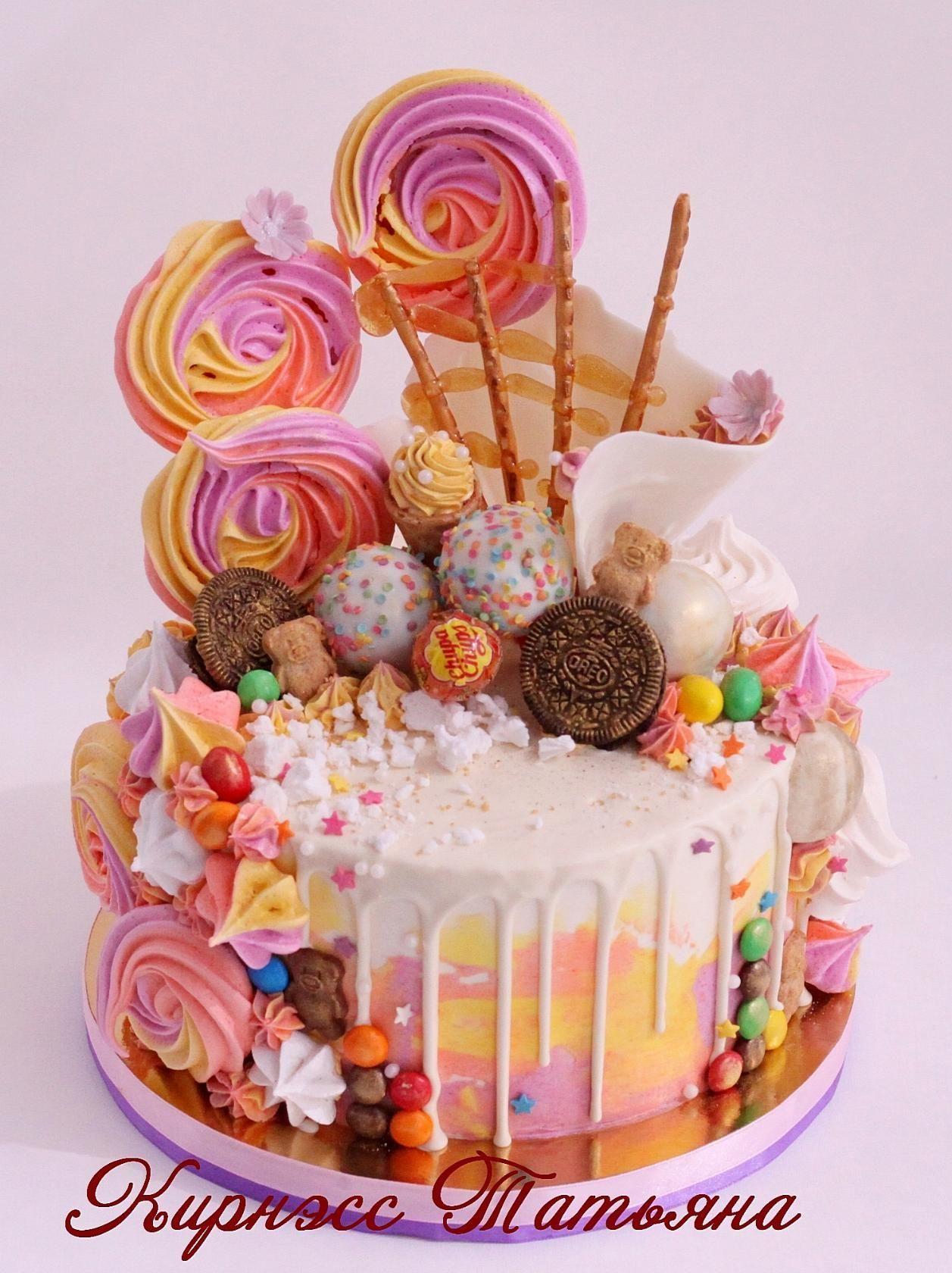 Одноклассники   Торты без мастики   Кремовый торт, Торты ...