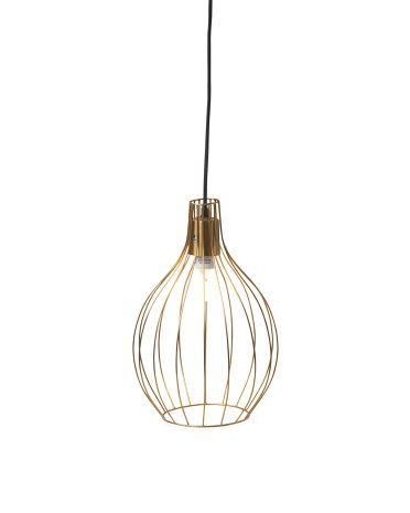 Made In India Wire Hanging Pendant Lamp Decor T J Maxx Home
