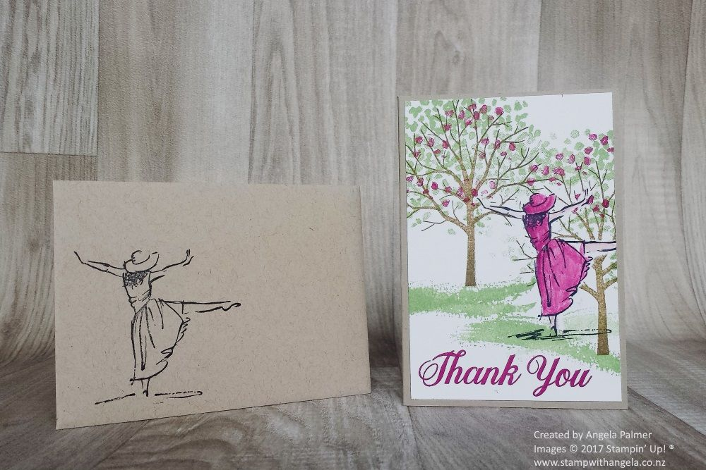 Here is a note card made with the masking technique The stamp sets